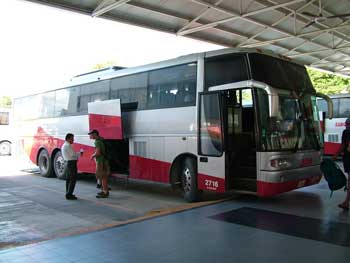 Buses from the main station in Playa del Carmen